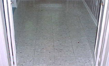 Terrazzo before cleaning